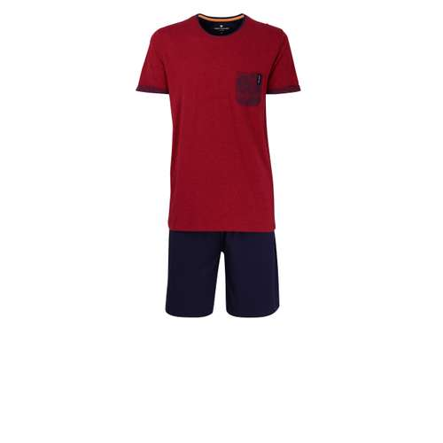 TOM TAILOR Herren Shorty rot melange 1er Pack im 0° Winkel