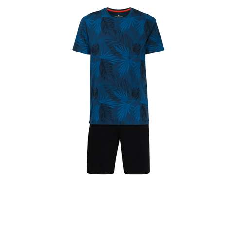 TOM TAILOR Herren Shorty blau bedruckt 1er Pack im 0° Winkel