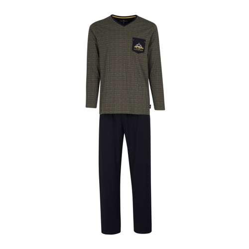 TOM TAILOR Herren Pyjama grün bedruckt 1er Pack im 0° Winkel