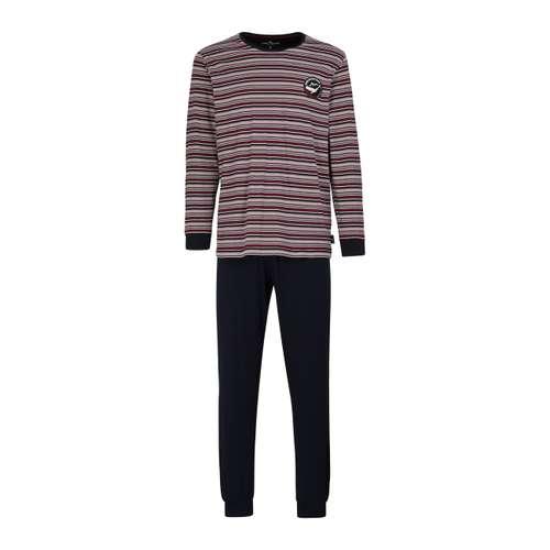TOM TAILOR Herren Pyjama rot bedruckt 1er Pack im 0° Winkel
