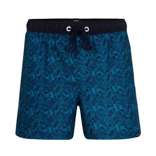 CECEBA Herren Bade-Pants blau bedruckt 1er Pack im 0° Winkel