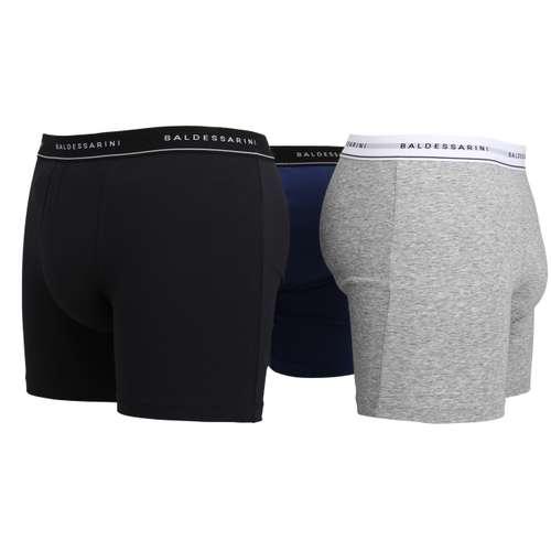 Bild von BALDESSARINI Herren Long-Pants blau melange 1er Pack 290° Ansicht