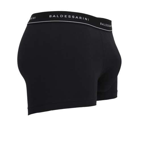 Bild von BALDESSARINI Herren Short-Pants schwarz melange 3er Pack 290° Ansicht