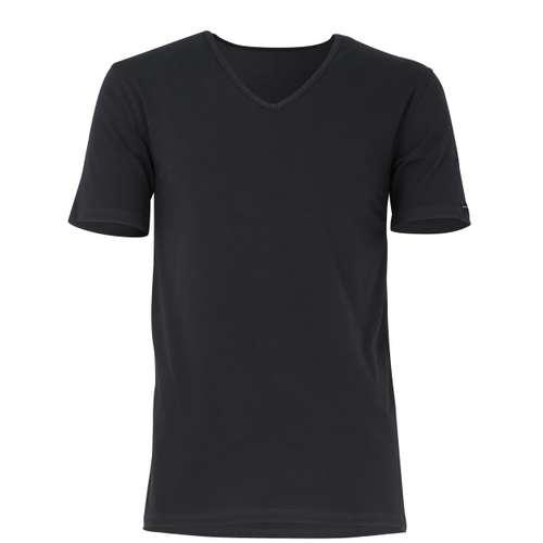 BALDESSARINI Herren T-Shirt schwarz uni 2er Pack im 0° Winkel