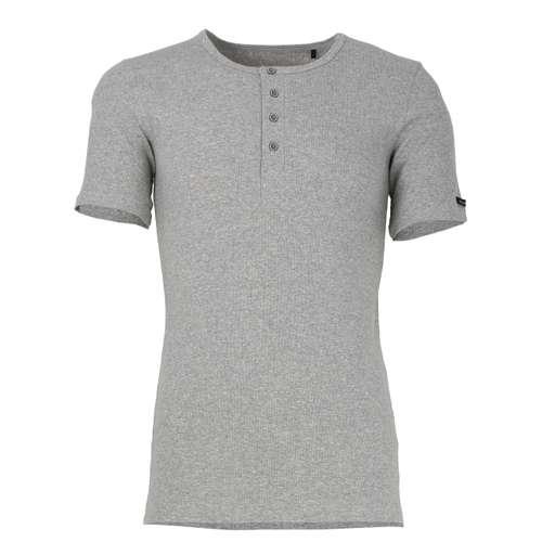 BALDESSARINI Herren Shirt grau melange 1er Pack im 0° Winkel