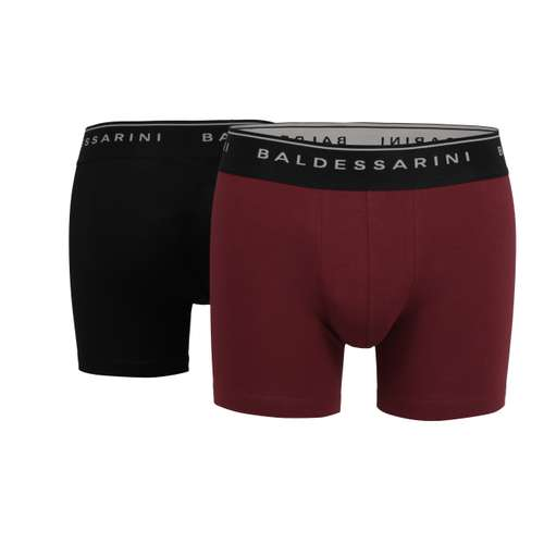 BALDESSARINI Herren Long-Pants schwarz uni 2er Pack im 0° Winkel