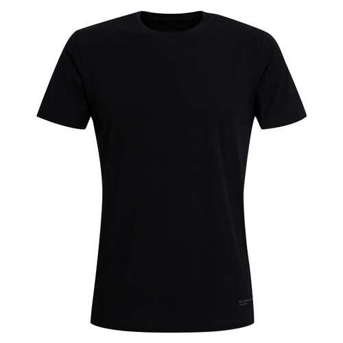 BALDESSARINI Herren T-Shirt schwarz uni 1er Pack im 0° Winkel