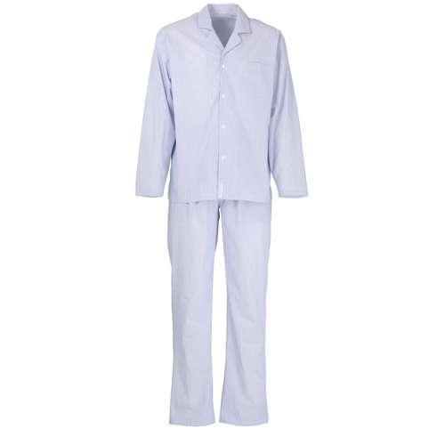 BALDESSARINI Herren Pyjama blau längsgestreift 1er Pack im 0° Winkel