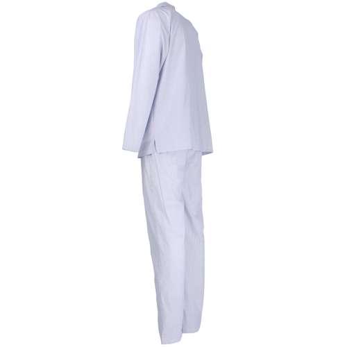 Bild von BALDESSARINI Herren Pyjama blau längsgestreift 1er Pack 120° Ansicht