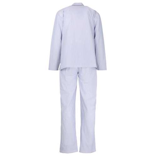 Bild von BALDESSARINI Herren Pyjama blau längsgestreift 1er Pack 180° Ansicht