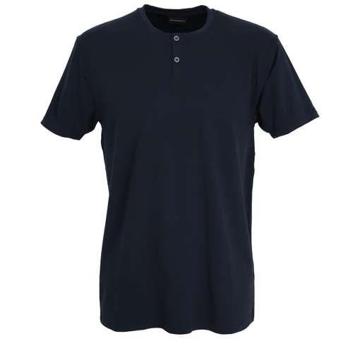 BALDESSARINI Herren Shirt blau uni 1er Pack im 0° Winkel