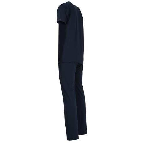 Bild von BALDESSARINI Herren Pyjama blau uni 1er Pack 120° Ansicht