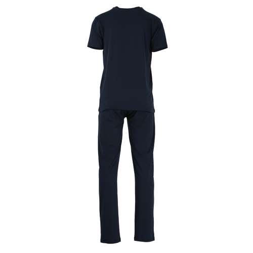 Bild von BALDESSARINI Herren Pyjama blau uni 1er Pack 180° Ansicht