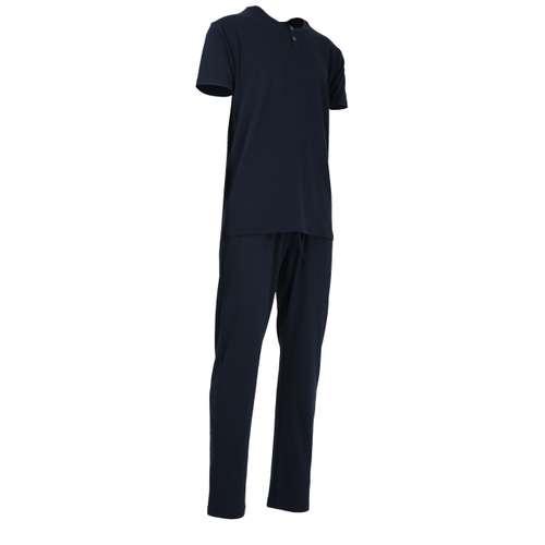 Bild von BALDESSARINI Herren Pyjama blau uni 1er Pack 330° Ansicht