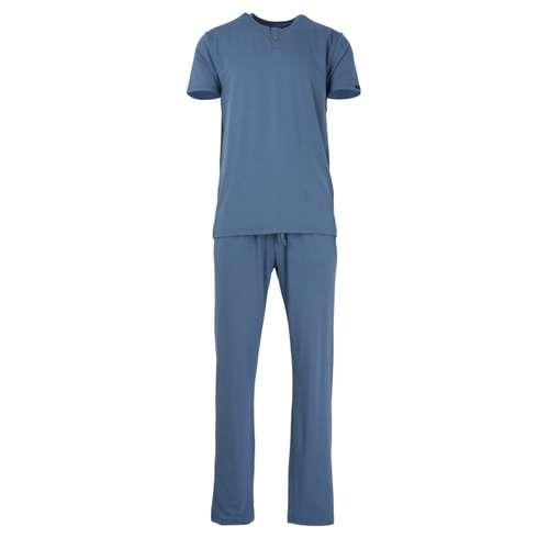 BALDESSARINI Herren Pyjama grau uni 1er Pack im 0° Winkel