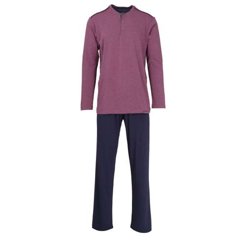 BALDESSARINI Herren Pyjama lila melange 1er Pack im 0° Winkel