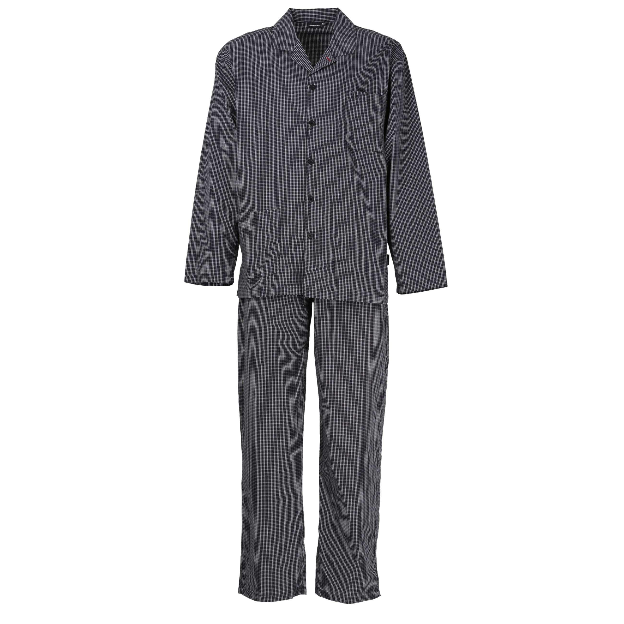spätester Verkauf verkauft Geschäft GÖTZBURG Herren Pyjama schwarz kariert 1er Pack jetzt kaufen