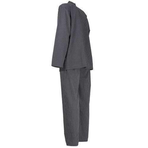 Bild von GÖTZBURG Herren Pyjama schwarz kariert 1er Pack 120° Ansicht