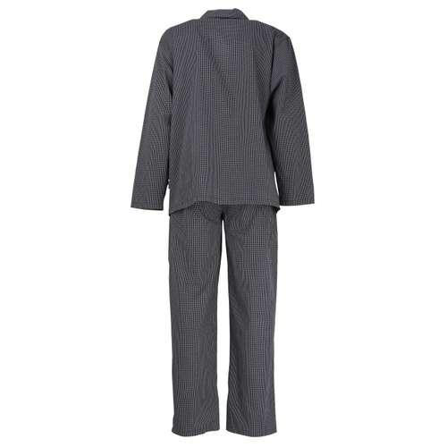 Bild von GÖTZBURG Herren Pyjama schwarz kariert 1er Pack 180° Ansicht