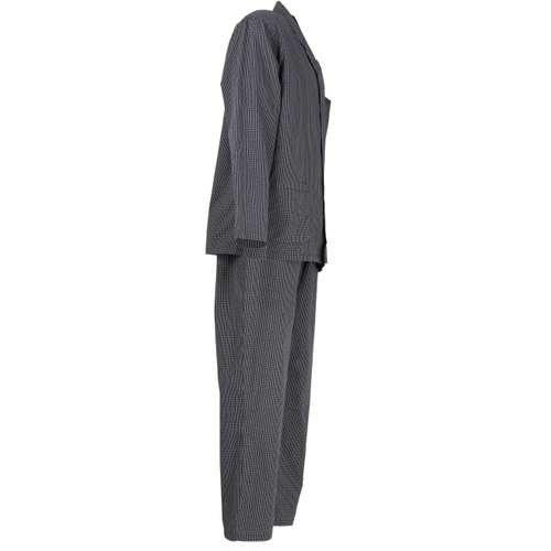 Bild von GÖTZBURG Herren Pyjama schwarz kariert 1er Pack 290° Ansicht