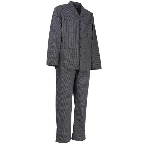 Bild von GÖTZBURG Herren Pyjama schwarz kariert 1er Pack 330° Ansicht