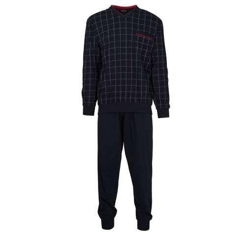 Bild von GÖTZBURG Herren Pyjama blau kariert 1er Pack 0° Ansicht