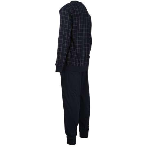 Bild von GÖTZBURG Herren Pyjama blau kariert 1er Pack 120° Ansicht