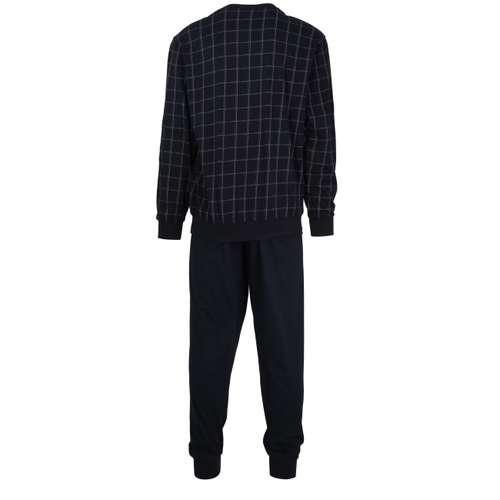 Bild von GÖTZBURG Herren Pyjama blau kariert 1er Pack 180° Ansicht
