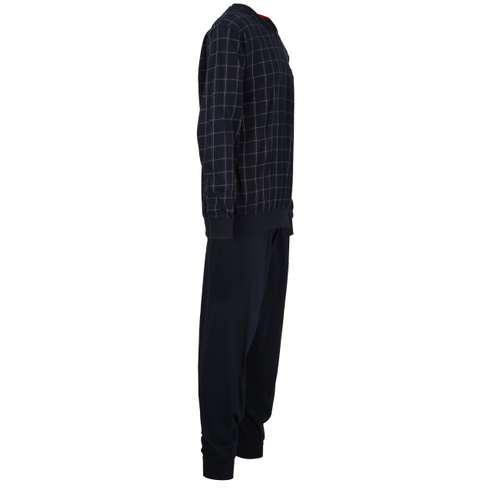 Bild von GÖTZBURG Herren Pyjama blau kariert 1er Pack 290° Ansicht