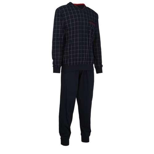 Bild von GÖTZBURG Herren Pyjama blau kariert 1er Pack 330° Ansicht
