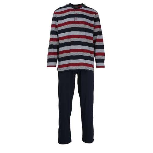 Bild von GÖTZBURG Herren Pyjama rot quergestreift 1er Pack 0° Ansicht