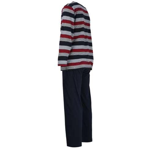 Bild von GÖTZBURG Herren Pyjama rot quergestreift 1er Pack 120° Ansicht