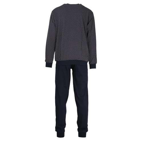 Bild von GÖTZBURG Herren Pyjama blau bedruckt 1er Pack 180° Ansicht
