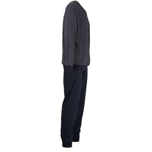 Bild von GÖTZBURG Herren Pyjama blau bedruckt 1er Pack 290° Ansicht