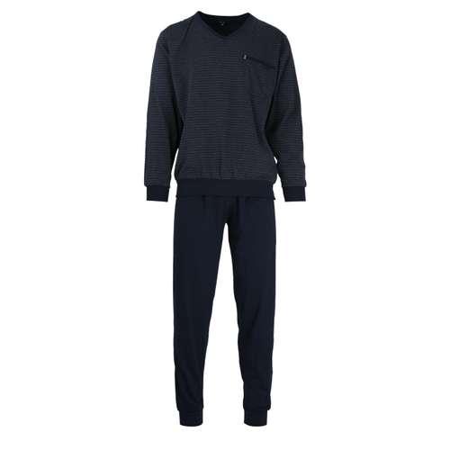 GÖTZBURG Herren Pyjama längsgestreift 1er Pack im 0° Winkel