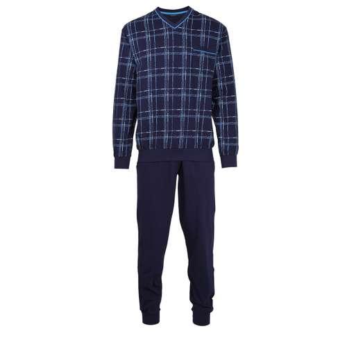 Bild von GÖTZBURG Herren Pyjama blau bedruckt 1er Pack 0° Ansicht