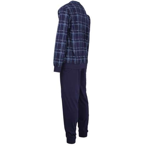 Bild von GÖTZBURG Herren Pyjama blau bedruckt 1er Pack 120° Ansicht