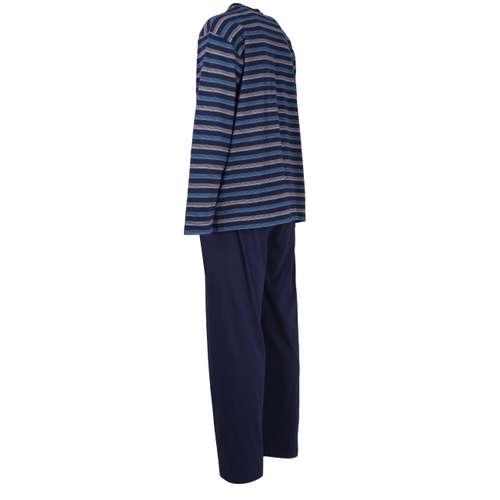 Bild von GÖTZBURG Herren Pyjama blau quergestreift 1er Pack 120° Ansicht