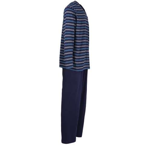 Bild von GÖTZBURG Herren Pyjama blau quergestreift 1er Pack 290° Ansicht
