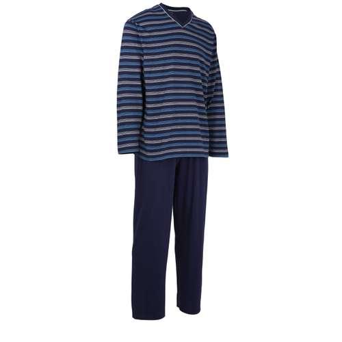 Bild von GÖTZBURG Herren Pyjama blau quergestreift 1er Pack 330° Ansicht