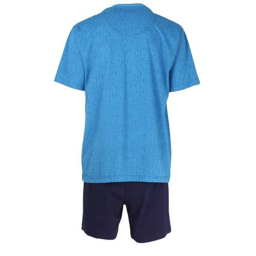 Bild von GÖTZBURG Herren Shorty blau bedruckt 1er Pack 180° Ansicht