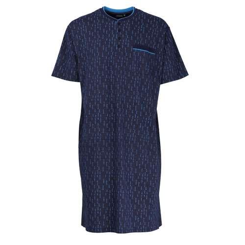 Bild von GÖTZBURG Herren Nachthemd blau bedruckt 1er Pack 0° Ansicht