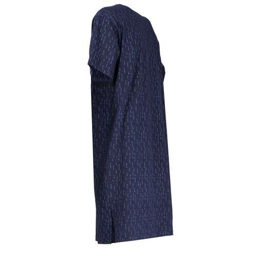 Bild von GÖTZBURG Herren Nachthemd blau bedruckt 1er Pack 120° Ansicht