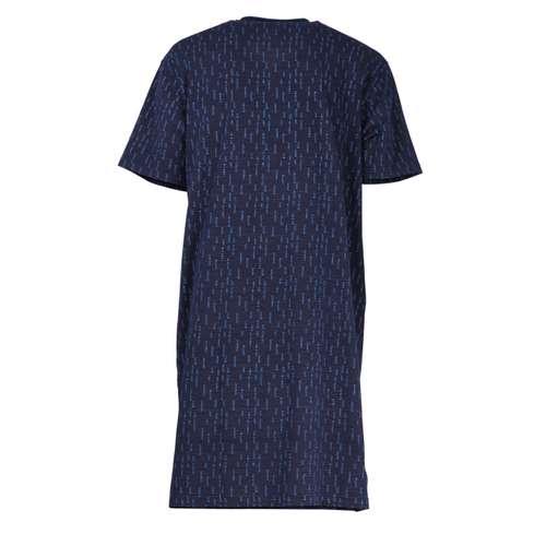 Bild von GÖTZBURG Herren Nachthemd blau bedruckt 1er Pack 180° Ansicht