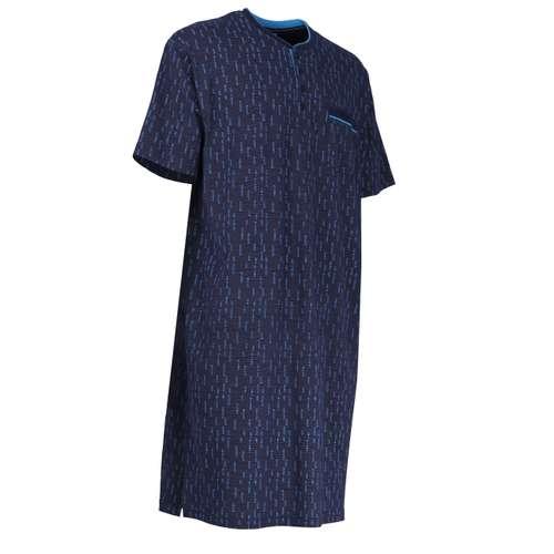 Bild von GÖTZBURG Herren Nachthemd blau bedruckt 1er Pack 330° Ansicht