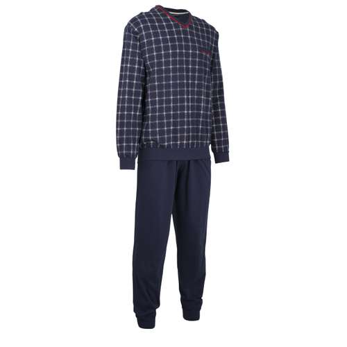 Bild von GÖTZBURG Herren Pyjama blau bedruckt 1er Pack 330° Ansicht