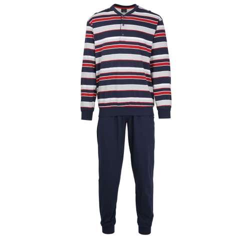 Bild von GÖTZBURG Herren Pyjama blau quergestreift 1er Pack 0° Ansicht