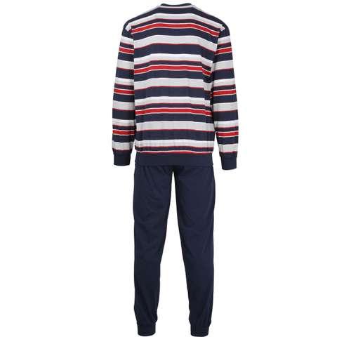 Bild von GÖTZBURG Herren Pyjama blau quergestreift 1er Pack 180° Ansicht