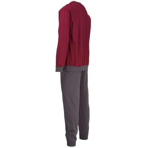 Bild von GÖTZBURG Herren Pyjama rot bedruckt 1er Pack 120° Ansicht