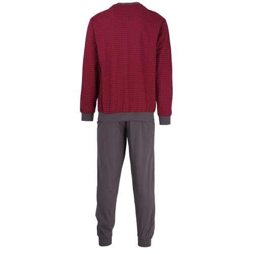 Bild von GÖTZBURG Herren Pyjama rot bedruckt 1er Pack 180° Ansicht